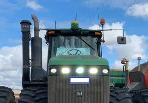John Deere 9430 LED upgrade in front bonnet