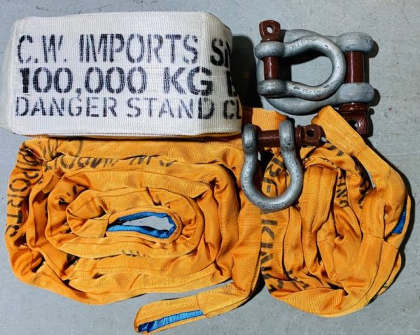 Heavy Duty Snatch Strap and Bridle Package