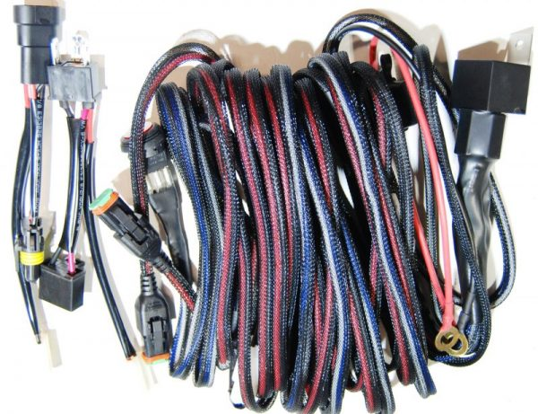 Wiring harness for upgrade lighting