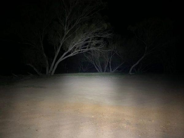 Watt LED Flood Light, night time shot