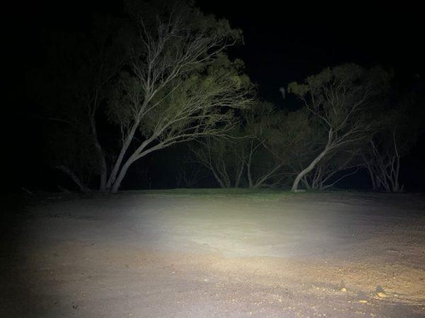 40 Watt LED Flood Light, night time shot
