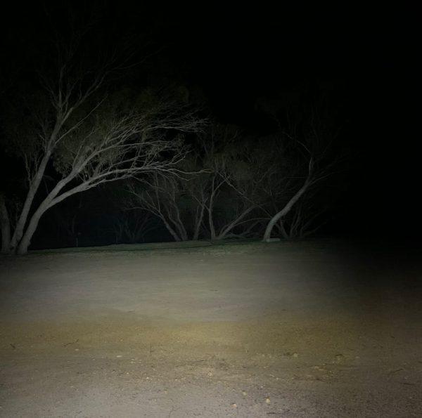 48 Watt LED Flood Light, night time shot