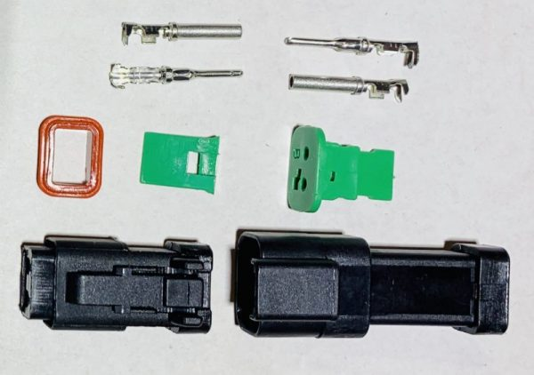Deutsch D2 Connector Plug, 1 piece pack