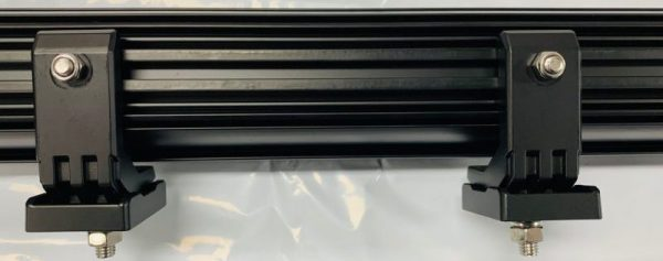 Adjustable mounting legs for curved lightbars